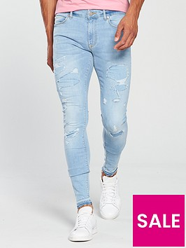 river-island-light-blue-ripped-ollie-skinny-spray-on-jeans