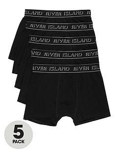 river-island-black-ri-branded-trunks-multipack