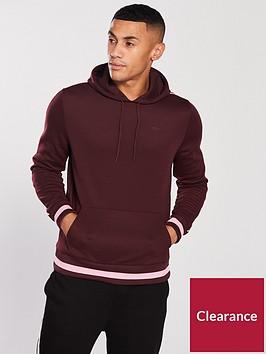 river-island-burgundy-slim-fit-piped-sleeve-hoodie