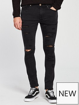 river-island-black-danny-ripped-super-skinny-jeans