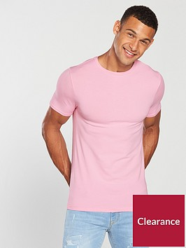 river-island-pink-muscle-fit-crew-neck-t-shirt