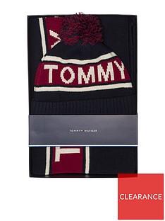 a7d3447d7 Tommy Hilfiger Logo Scarf And Beanie Set