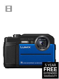 panasonic-lumix-dc--ft7-digital-in-blue-204mp-water-shock-dust-amp-freeze-proof-4k-wifi