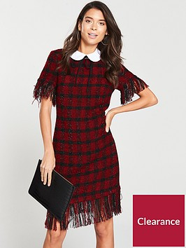 v-by-very-boucle-shift-dress-red