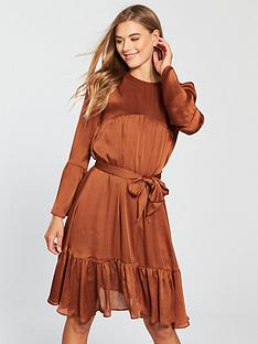 91d6d5dc04a V by Very Tie Front Dress - Rust