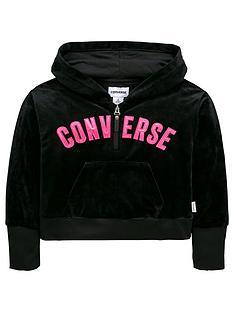 Converse Girls Velour Full Zip Hoody a1a864ecc