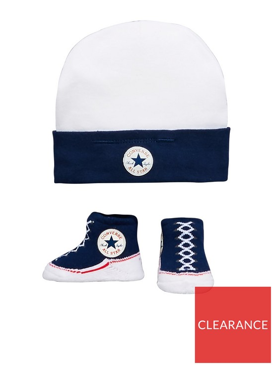 Converse Converse Baby Hat   Bootie Set  3b16ab0c3a2
