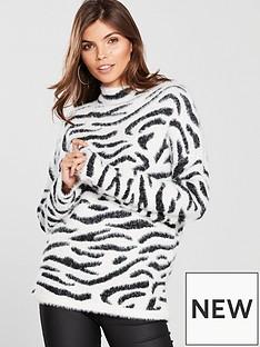 v-by-very-fluffy-zebra-jacquard-jumper