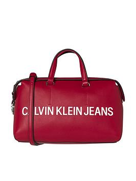 calvin-klein-sculpted-barrel-red-bag