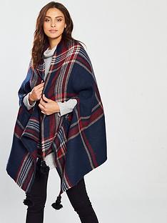 v-by-very-nancy-check-scarf-cape-navy-red