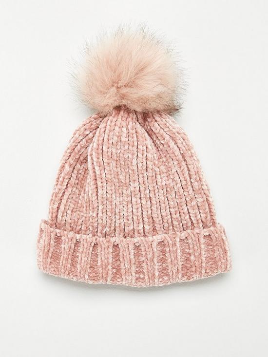 2f6e10737 Rebeka Chenille Pom Pom Beanie - Pink