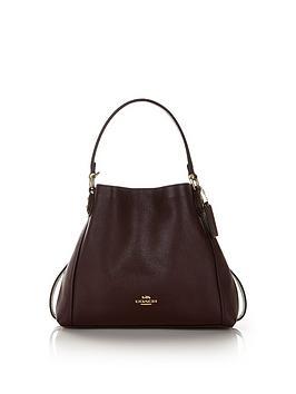 coach-edie-28-leather-shoulder-bag-burgundy