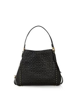 coach-edie-signature-print-leather-bag-black