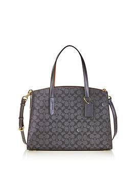 coach-coated-canvas-signature-charlie-handle-bag-dark-blue