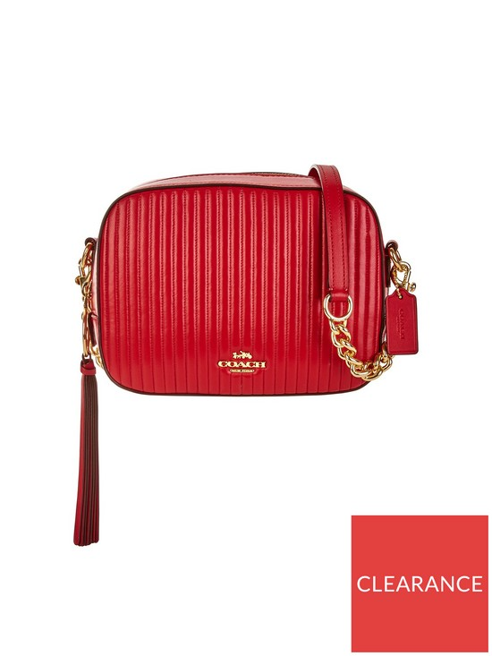 bda5d8febb54 COACH Quilted Leather Cross-Body Camera Bag - Red