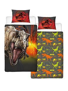 jurassic-world-t-rex-reversible-single-duvet-cover-set