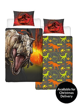 jurassic-world-t-rex-reversible-single-duvet-cover-set