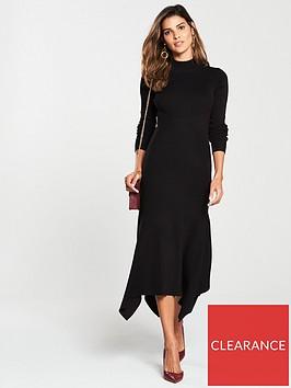 v-by-very-skinny-rib-high-neck-knitted-midi-dress-black