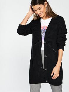 v-by-very-ribbed-button-through-cardigan-black