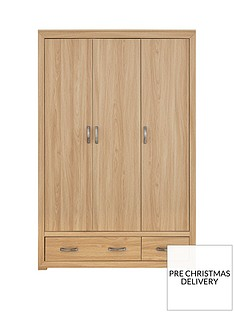 Mariza 3 Door, 2 Drawer Wardrobe