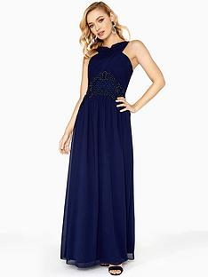 little-mistress-embellished-waist-detail-maxi-dress-navy