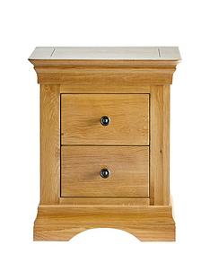 Ideal Home Normandy 2 Drawer Bedside Chest