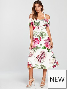 v-by-very-bardot-prom-dress-floral-print