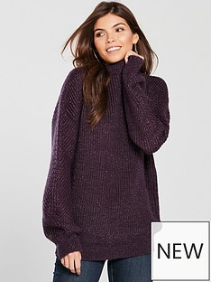 v-by-very-metallic-blouson-sleeve-rib-jumper-purplenbsp
