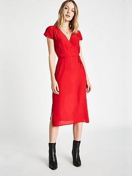 Jack Wills Copethorp Soft Tea Dress - Red