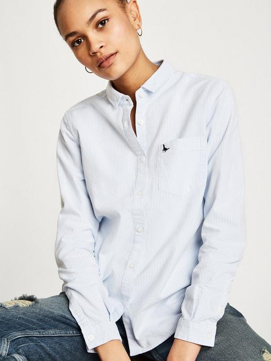 776bb02e2e8 Jack Wills Homefore Classic Fit Shirt - Pale Blue | very.co.uk