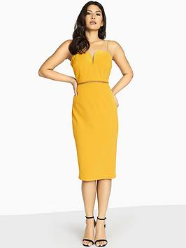 girls-on-film-double-strappy-midi-bodycon-dress-mustard
