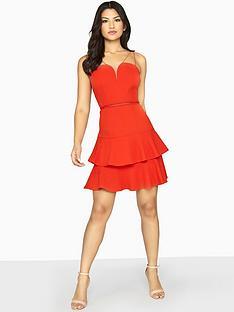 girls-on-film-double-strappy-tiered-mini-dress-rednbsp