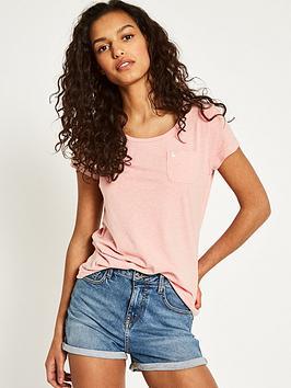 Jack Wills Fulford Pocket T-Shirt - Rose