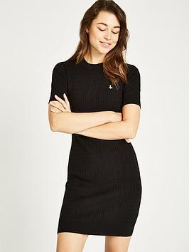 Jack Wills Danesfort Cable Knit Dress - Black