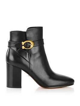 coach-c-buckle-ankle-boots-black
