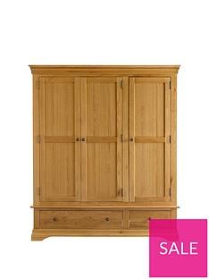 Ideal Home Normandy 3 Door 2 Drawer Wardrobe