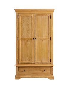 Ideal Home Normandy 2 Door, 1 Drawer Wardrobe