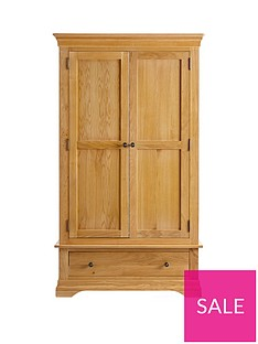 Ideal Home Normandy 2 Door, 1 Drawer Wardrobe