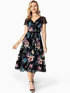 little-mistress-lace-sleeve-midi-dress--nbspfloral-printnbsp