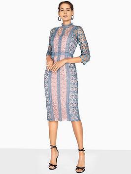 Little Mistress Crochet Midi Dress - Aqua