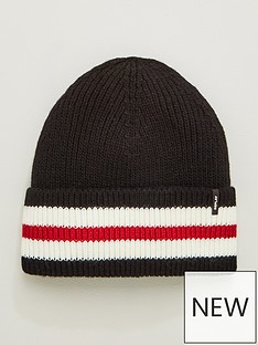 replay-sports-stripe-beanie