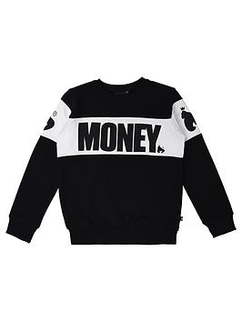 money-boys-black-label-cut-sew-crew-neck-sweat