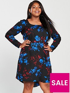 junarose-ewa-keenan-long-sleeve-printed-dress-black