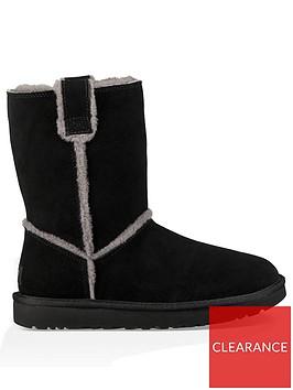 ugg-classic-short-spill-seam-boots-black