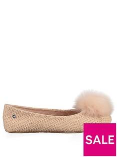 ugg-andi-pom-pom-ballerina-slipper-amberlight
