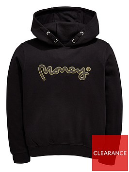 money-boys-gold-label-oversized-overhead-logo-hoody