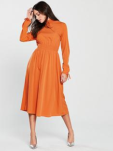 vero-moda-toscana-midi-dress-rustnbsp
