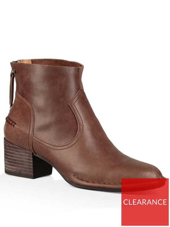 a0ff49dc55f Bandara Leather Ankle Boots - Coconut Shell