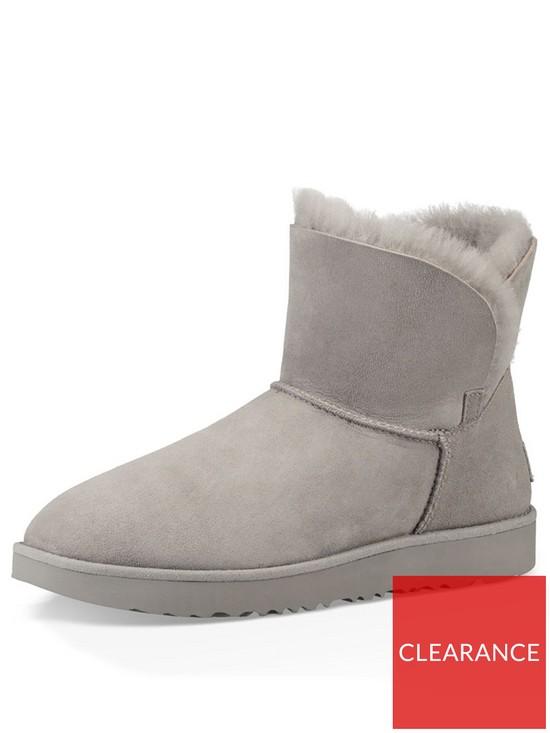8d3630a98eba10 UGG Classic Cuff Mini Ankle Boot - Seal | very.co.uk