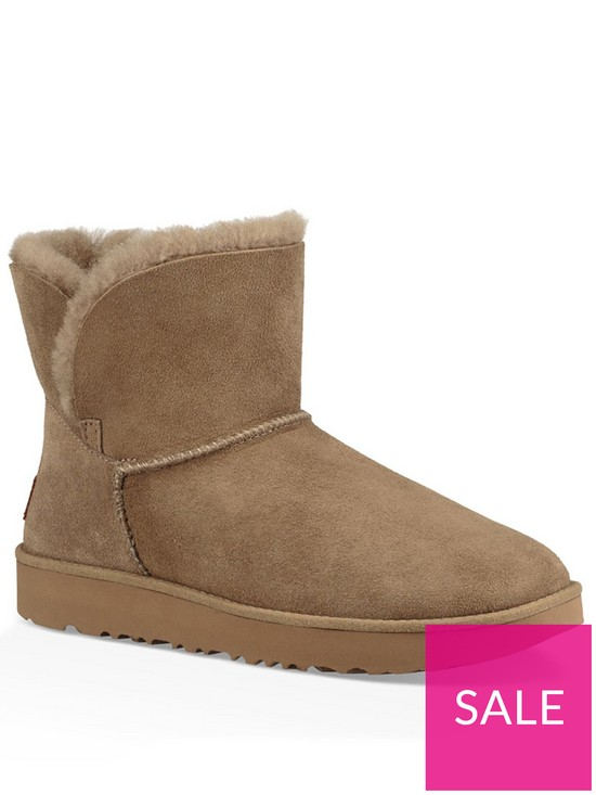 7b4b713d9 UGG Classic Cuff Mini Ankle Boot - Antilope | very.co.uk